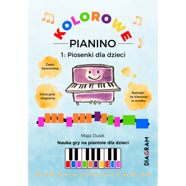 Kolorowe pianino Okładka
